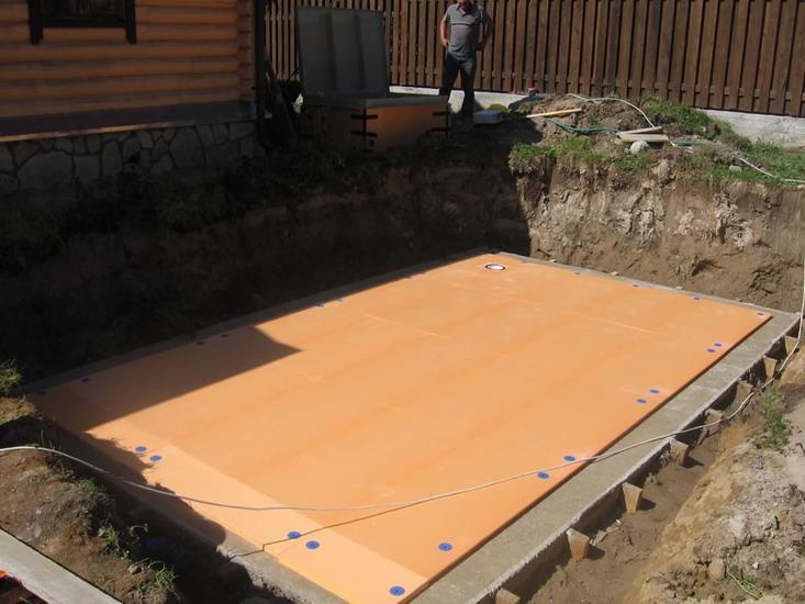 Подушка под каркасный бассейн